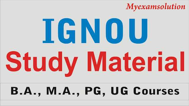 IGNOU Study Material and Books; IGNOU Free Download 2020;  IGNOU Study Material