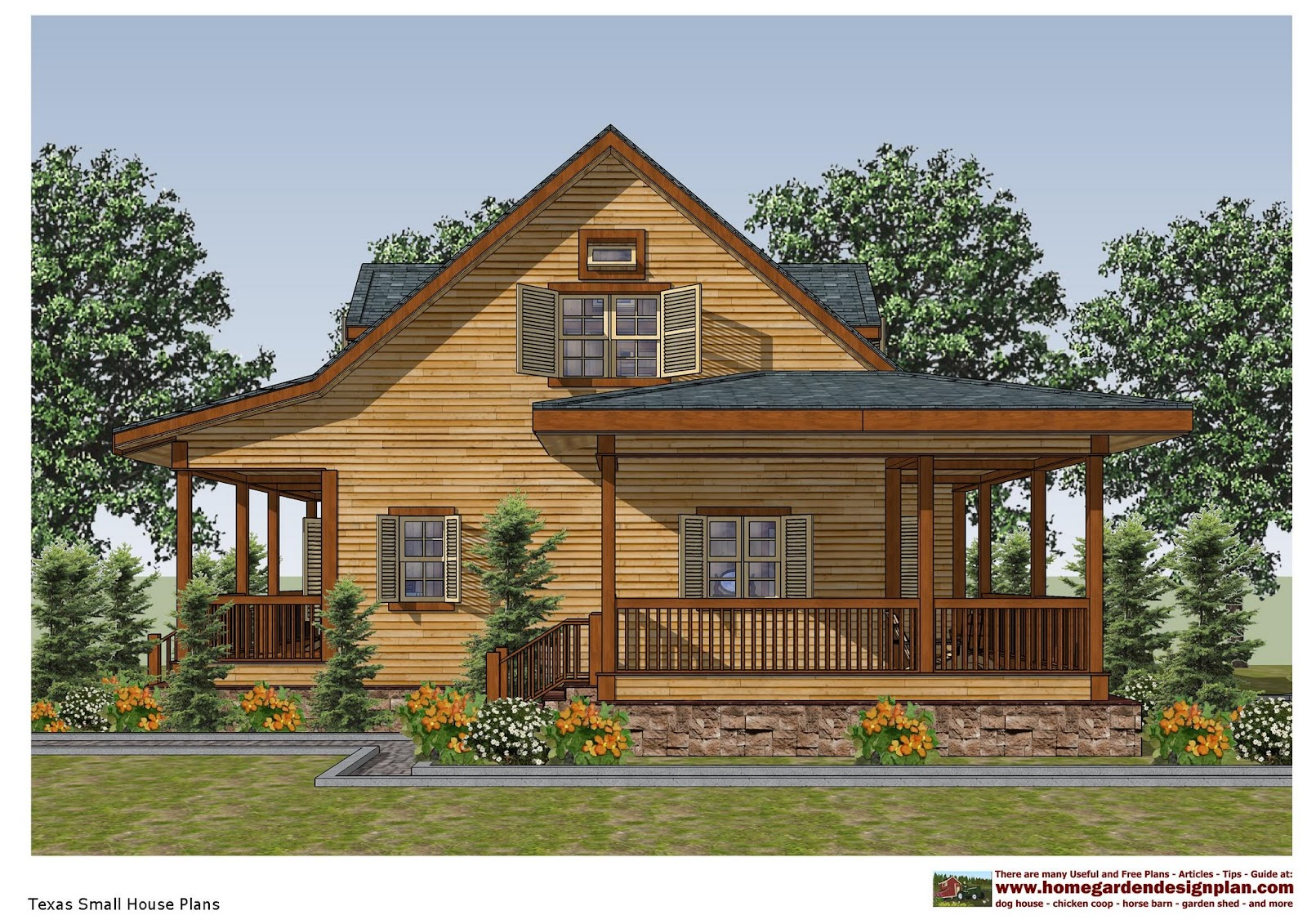 home garden plans: SH100  Small House Plans  Small House Design  in Texas