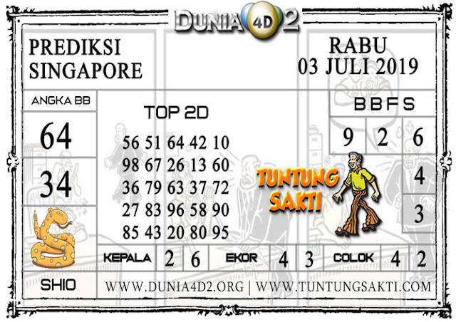 """Prediksi Togel """"SINGAPORE"""" DUNIA4D2 03 JULI 2019"""