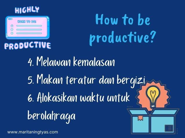tips agar blogging productively