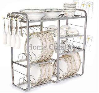 Home Creations 24 inch wall mount Kitchen Dish Rack (Best Utensil Rack)