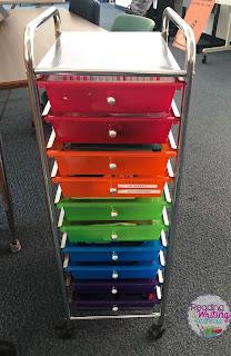 Rainbow cart for flexible seating organization