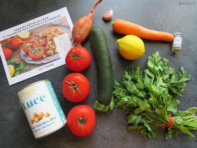 qui toque avis tomates roties au four salade pois chiche