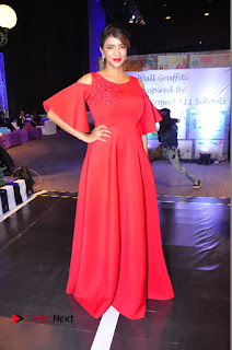 Manchu Lakshmi Pictures in Red Long Dress at Food for Change ? A Black Tie Charity Event