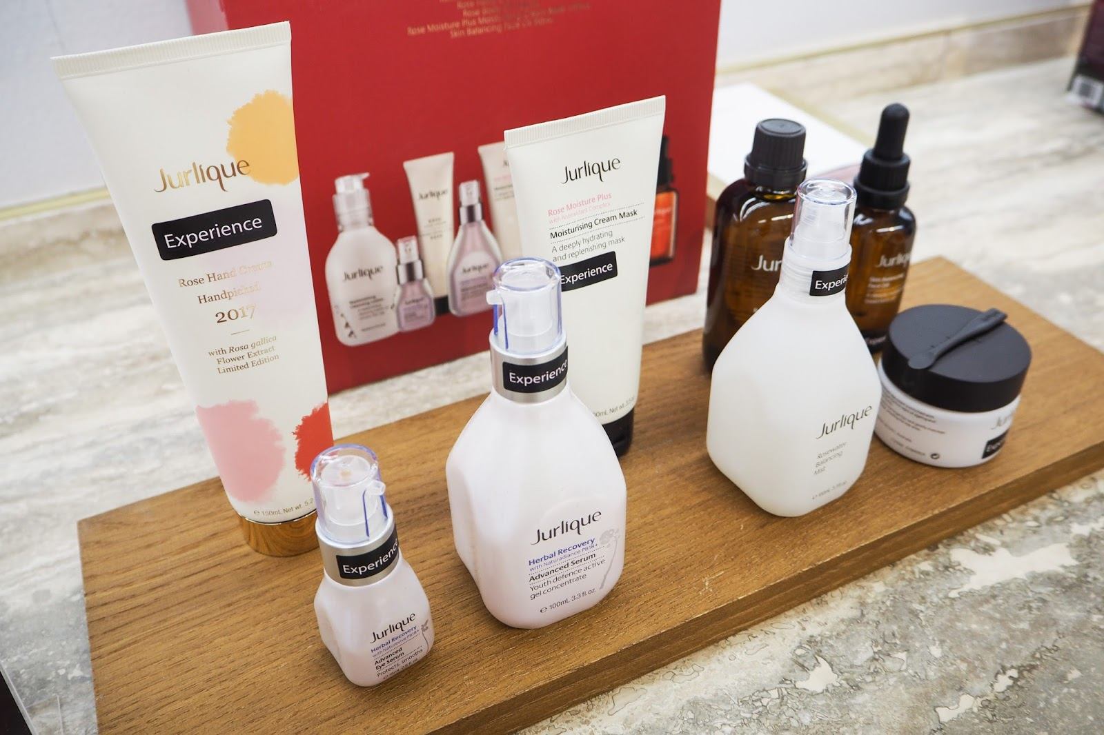 A selection of Jurlique skincare products at the Chester counter