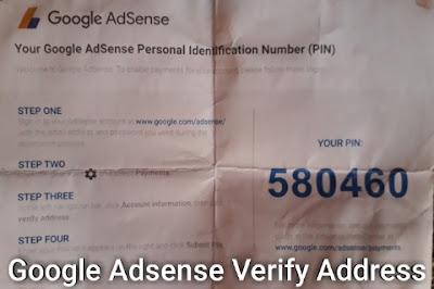 Google Adsense Verify Address In 2019