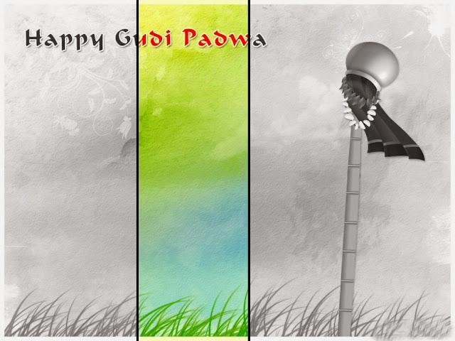 Happy Gudi Padwa Wallpaper HD Dark