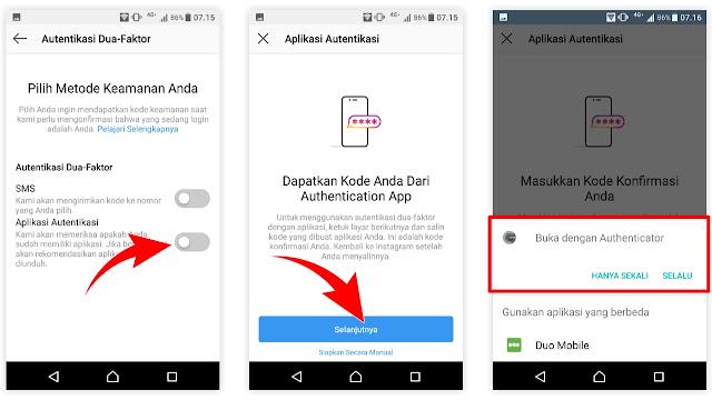 2 Cara Mengaktifkan Autentikasi Dua Faktor Instagram Menggunakan Metode Aplikasi Autentikasi Halo Instagram Blog