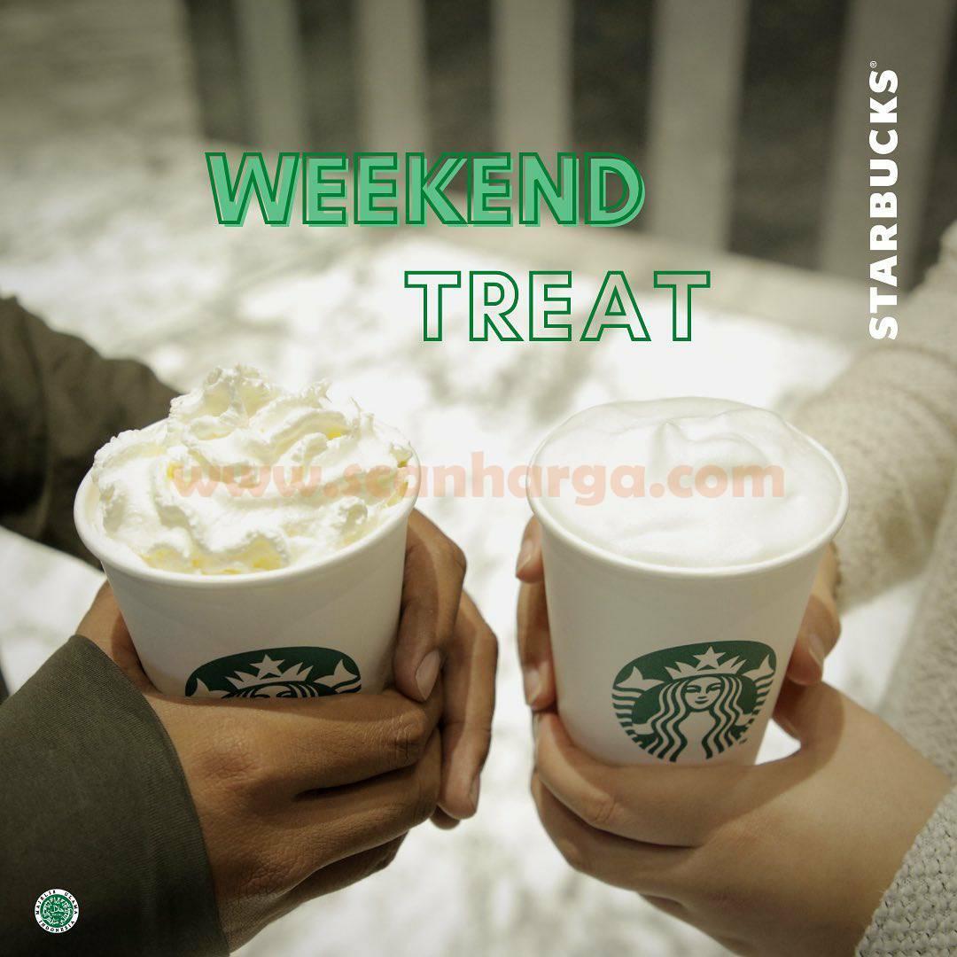 STARBUCKS Promo Weekend Treat - Dapatkan Potongan 20% untuk Minuman Favorit
