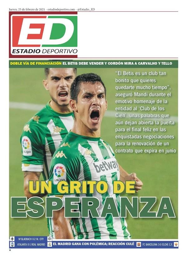 """Betis, Estadio Deportivo: """"Un grito de esperanza"""""""