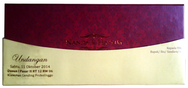 contoh desain undangan pernikahan malang
