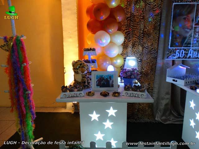 Mesa temática decorativa da Oncinha - Decoração para aniversário