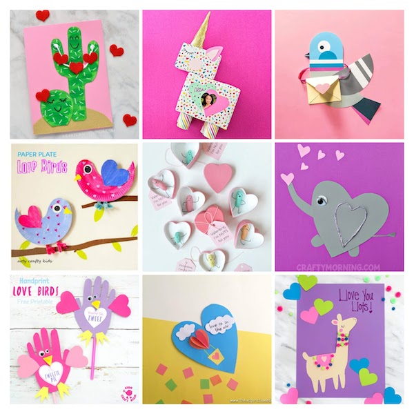 Valentine's Day Cards, Valentines Crafts, Valentine Crafts for kids, Valentine's Day crafts, Valentine's Day Gifts that kids can make, Homemade Valentine's Day Gifts