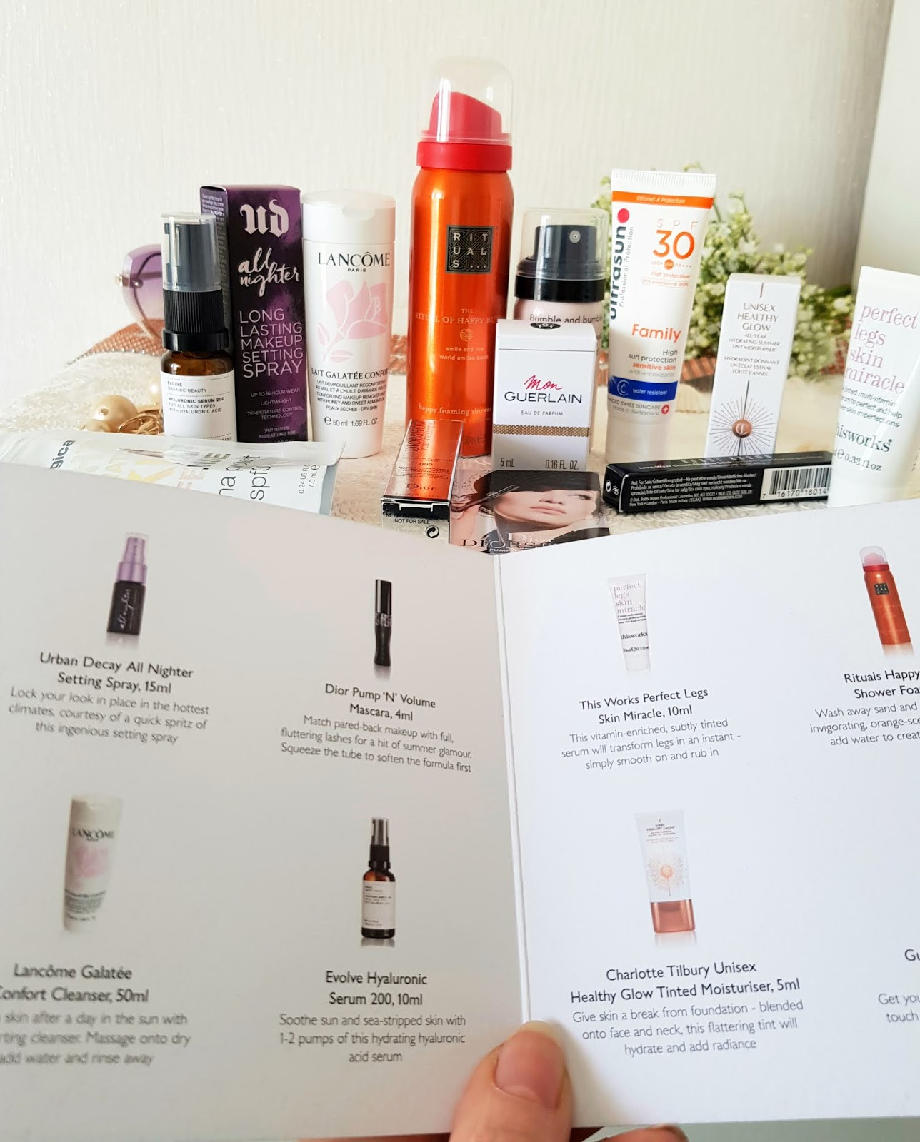 Products and instructions inside the John Lewis and Partners Holiday Heroes box