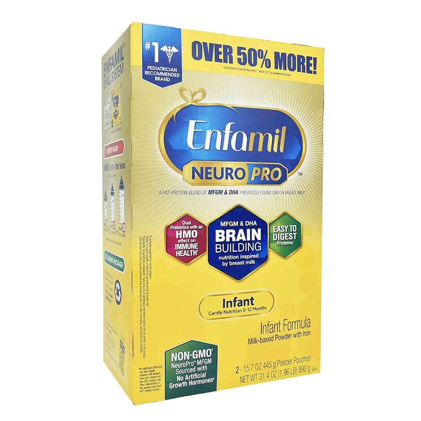 Sữa Bột Enfamil NeuroPro Hộp Giấy 890g - Mỹ