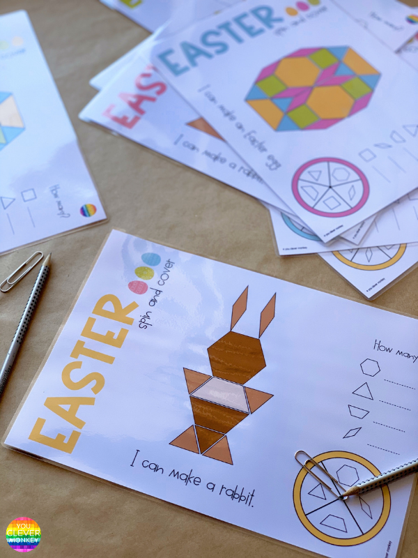 EASY TO PREP EASTER PATTERN BLOCK PRINTABLES | you clever monkey