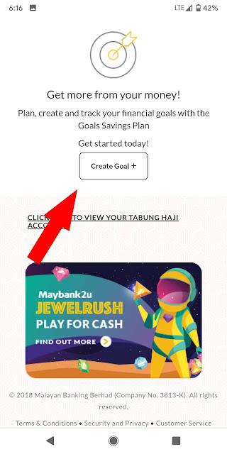 Cara Buat Goal Maybank2u
