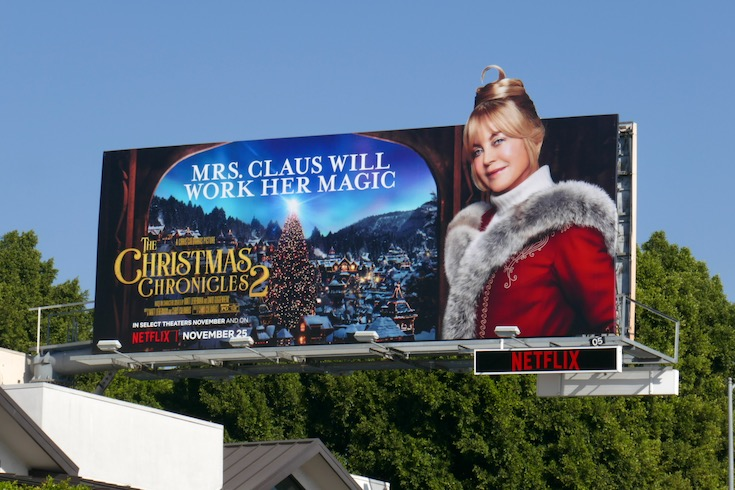 Mrs Claus Christmas Chronicles 2 billboard