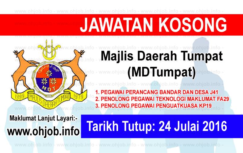 Jawatan Kerja Kosong Majlis Daerah Tumpat (MDTumpat) logo www.ohjob.info julai 2016