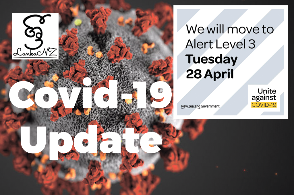 Covid-19 Update – New Zealand will be at Alert Level 3 from Tuesday 28 April