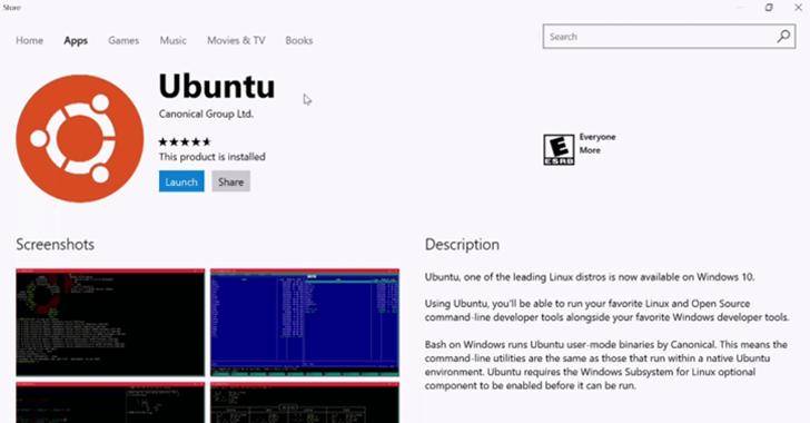 ubuntu-windows-store