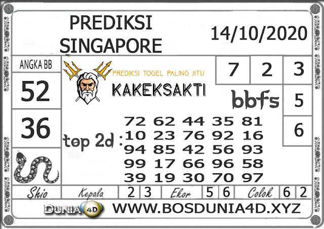 Prediksi Togel SINGAPORE DUNIA4D 14 OKTOBER 2020