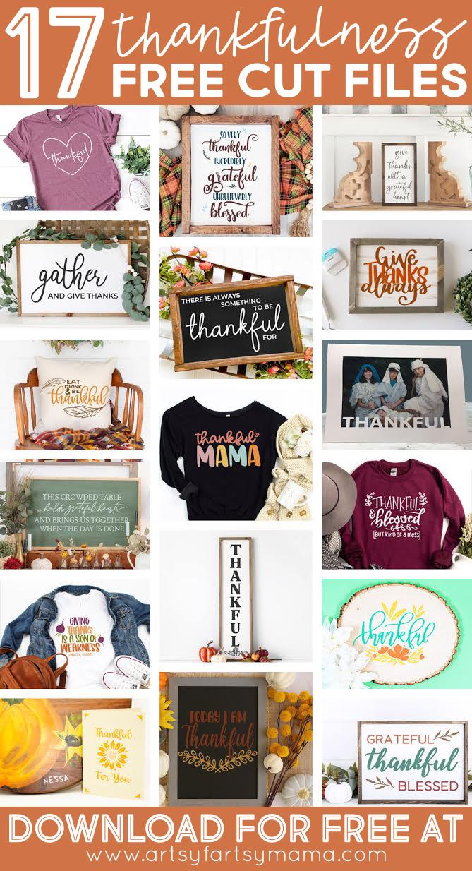 17 Free Thankfulness Cut Files
