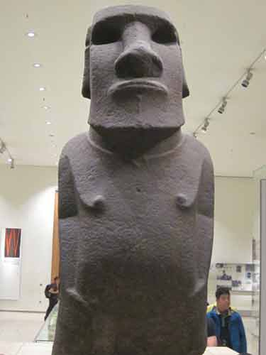 Easter Island Statue At The British Museum.