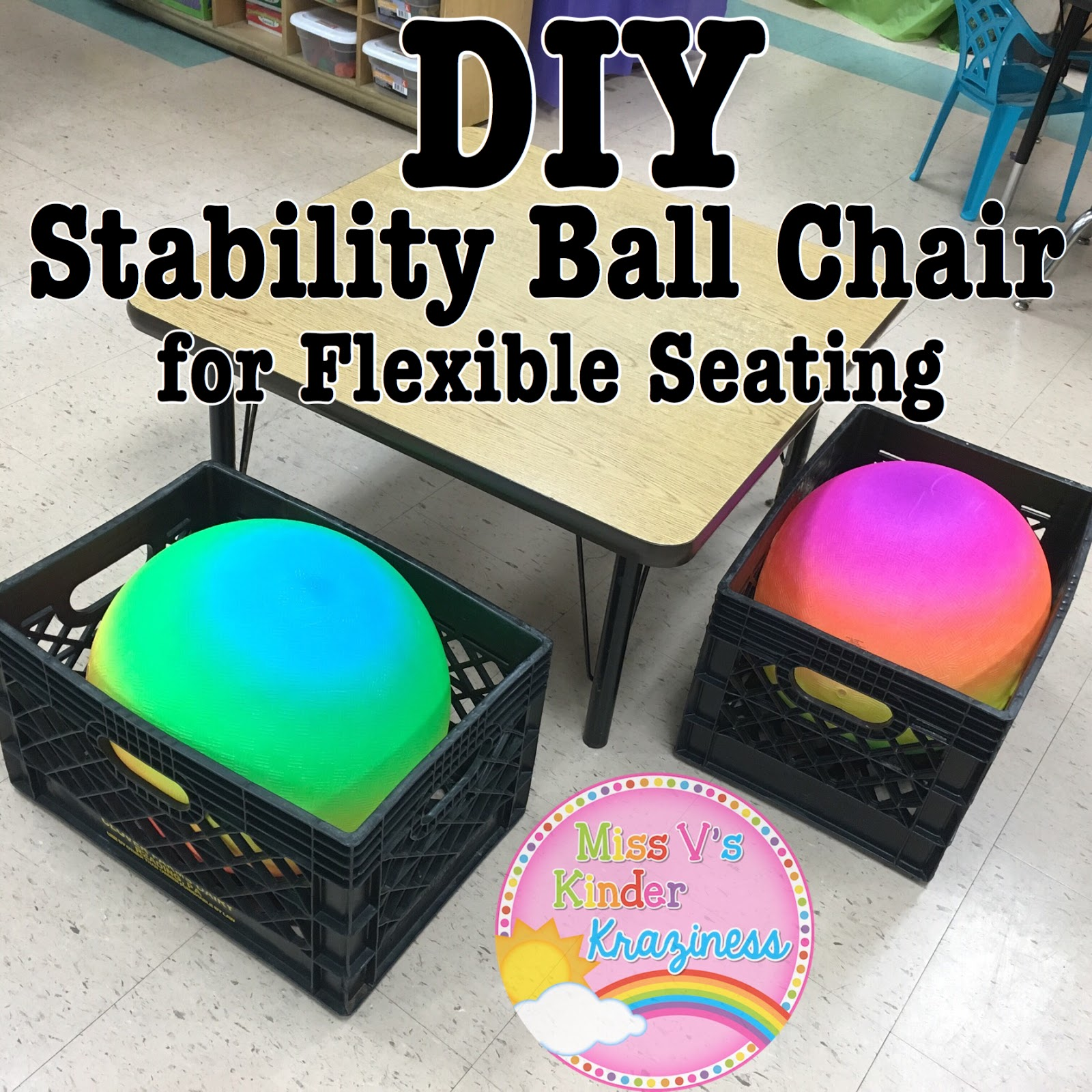 diy stability ball chairs