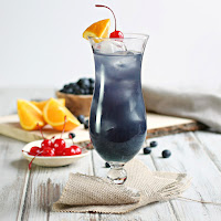 Blue Hurricane Cocktail