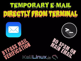 Command line temporary email in linux