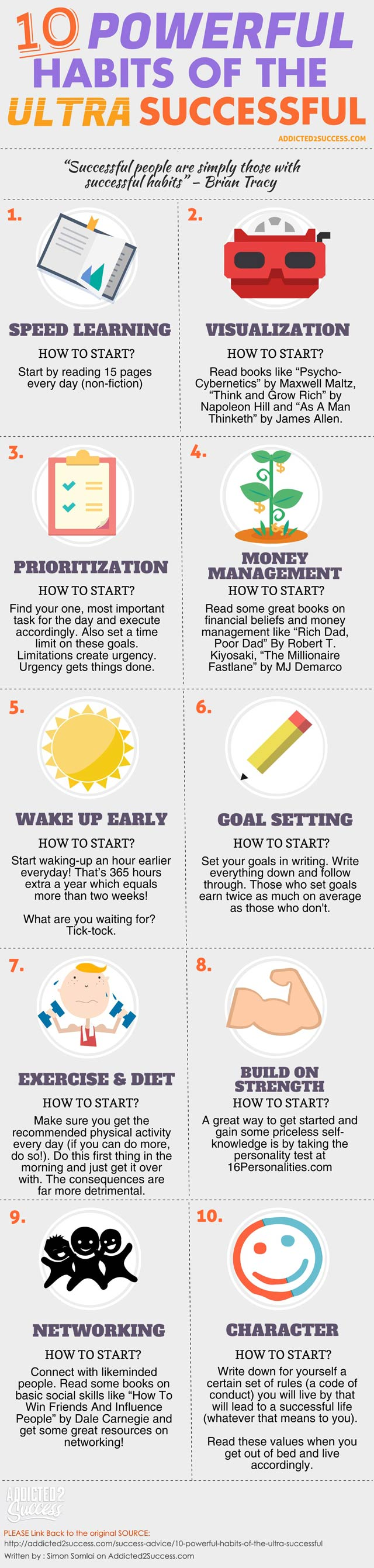 10 Powerful Habits Of The Super Successful #infographic