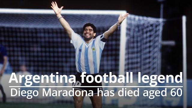Argentinean Football Star Diego Maradona Passed Away (Died) at 60