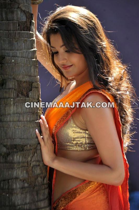Kajal Agarwal New Hot Saree Photos Spicy Stills
