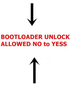 cara mengubah bootloader unlock allowed no menjadi yess