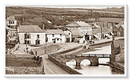 Vintage photo of Nanny Moore's Old Bridge, Cornwall