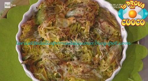 Fiori di zucca ripieni di tagliolini ricetta Spisni da Prova del Cuoco