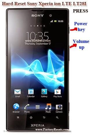 Hard Reset Sony Xperia ion LTE LT28I