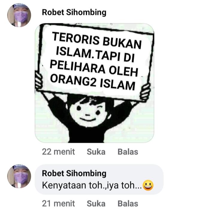 Robet Sihombing provokator