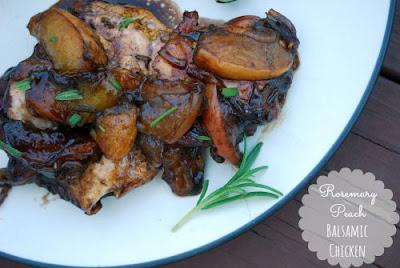 Rosemary Peach Balsamic Chicken (The Gingered Whisk)