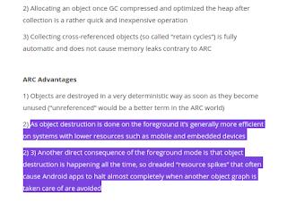 الفرق بين GC و ARC فى الأندرويد والآيفون