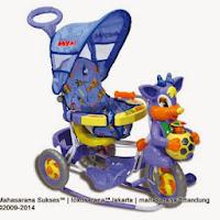 Sepeda Roda Tiga Royal RY8588CJ Baby Ball dengan Canopy dan Jok Kain