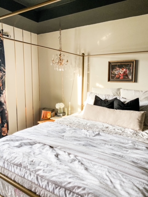 sherwin williams anew gray in master bedroom