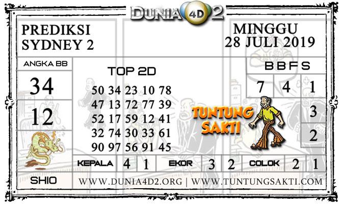 """Prediksi Togel """"SYDNEY 2"""" DUNIA4D2 28 JULI 2019"""