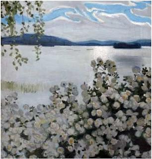 Roses blanches Galen Kallela