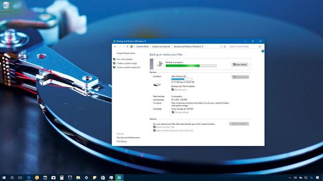 النسخ الاحتياطي لجهاز الكمبيوتر الخاص بك تلقائيا على ويندوز 10