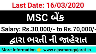 Bank Job recruitment, bank of Maharashtra Job Bharti 2020, Ojas Maru Gujarat, Ojas Bharti,