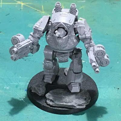 Heresy Era Dark Angels Contemptor Dreadnought WIP