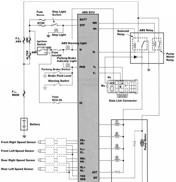 Wiring Diagram  Toyota AntiLock Brakes Electrical Wiring