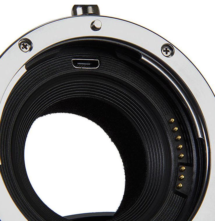 Разъем MicroUSB в адаптере Fotodiox Pro EF-FX(RF) Fusion Smart AF